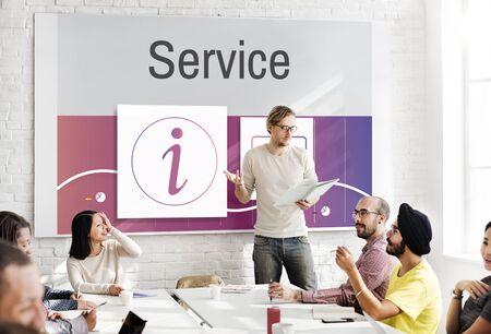 service desk: Information Customer Service Help Desk Concept
