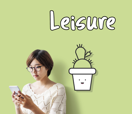 Woman with leisure concept