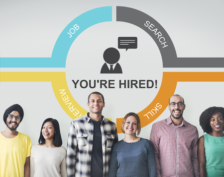 Job Team Join Work Hiring Hired Employed Concept Stock Photo