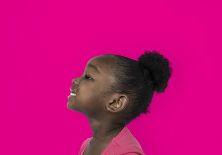 Portrait of an African American girl Фото со стока