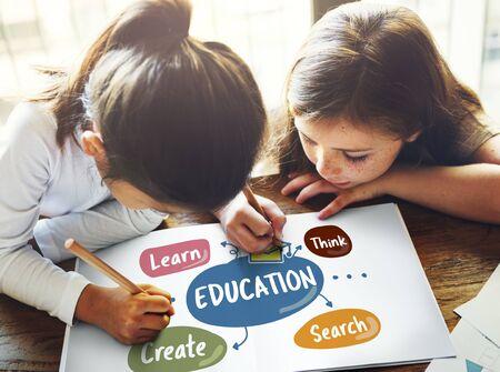 create: Education Create Learn Think Concept
