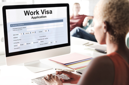 visa: Work Visa Application Employment Recruitment Concept