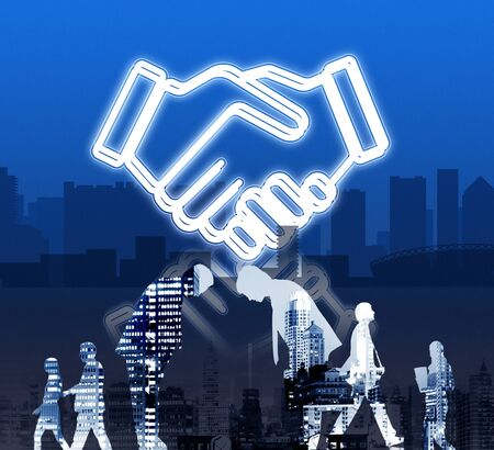 bowing: Deal Business Work Cooperation Organization Concept