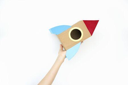aerospace: Aerospace Aircraft Aviation Flying Jet Trip Concept Stock Photo