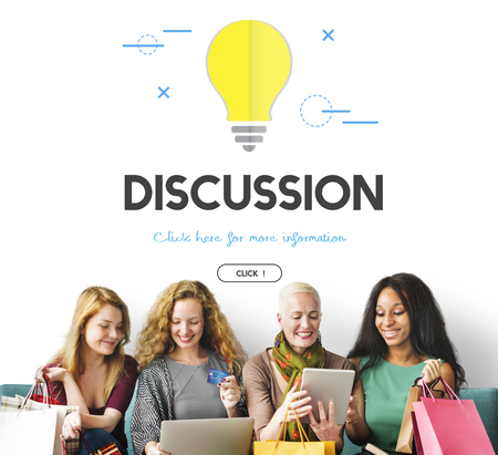 People with discussion concept