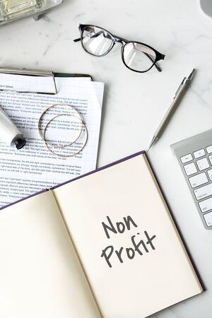 non profit: Non Profit Business Charity Donation Support Concept