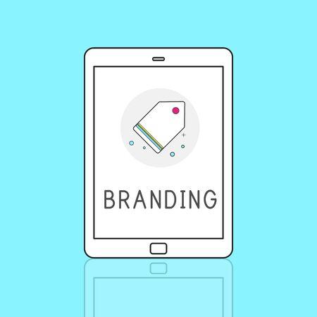 trademark: Branding Trademark Marketing Research Advertising Tag Concept