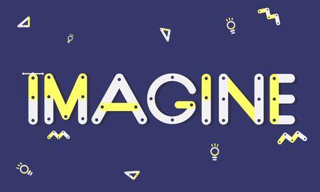 visualise: Geometric Font Brainstorm Ideas Concept Stock Photo