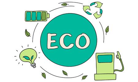 Eco Energy Saving Environmental Conservation Ecology Concept Stock Photo