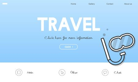 Holiday Travel Destination Vacation Icon Concept