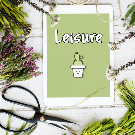Tablet with leisure concept
