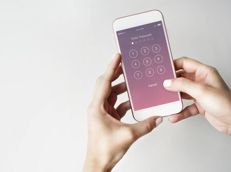 Enter Passcode Security System Concept Stock Photo
