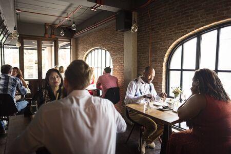 Restaurante Tiempo libre estilo de vida con clase Reservados Concepto Foto de archivo - 67994098