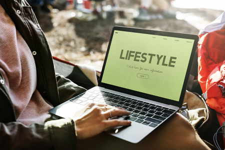Laptop with lifestyle concept