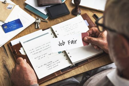 place of employment: Job Fair Seeking Work Hiring Concept