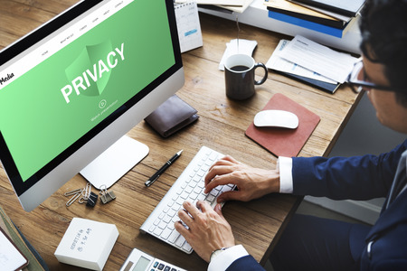 Security Privacy Web Page Concept Imagens