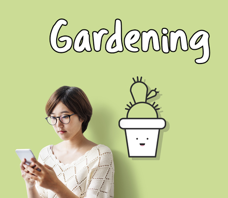 Woman with gardening concept