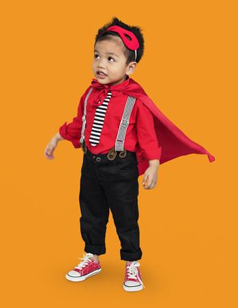 Child in superhero costume Stockfoto
