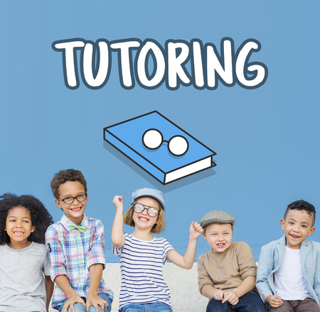 Children with tutoring concept Banco de Imagens