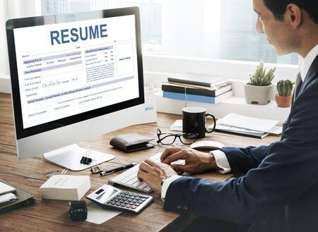 job qualifications: Resume Application Employment Form Concept