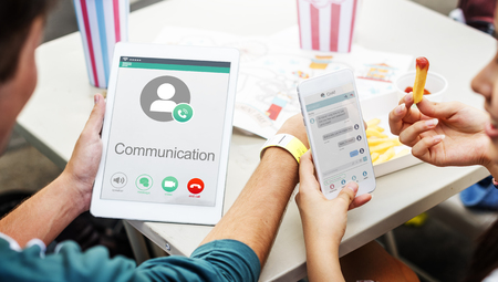 calling communication: Calling Communication Connect Networking Concept Stock Photo