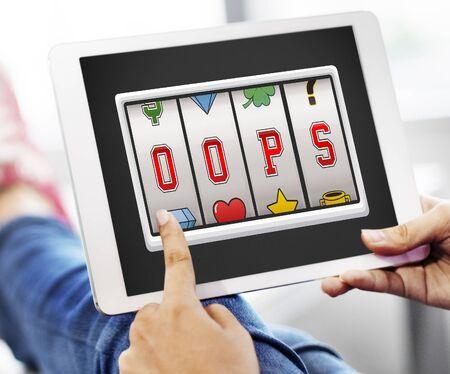 regret: Oops Fail False Fault Mistake Regret Sign Sorry Concept
