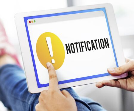 exclamation point: Notification Alert Exclamation Point Graphic Concept
