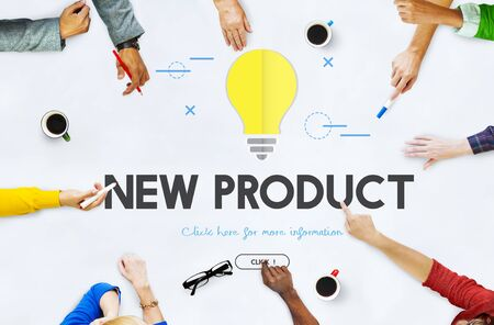 New Product Commerce Launch Promotion Concept Stock Photo