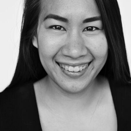 asian ethnicity: Asian Ethnicity Woman Studio Concept Stock Photo