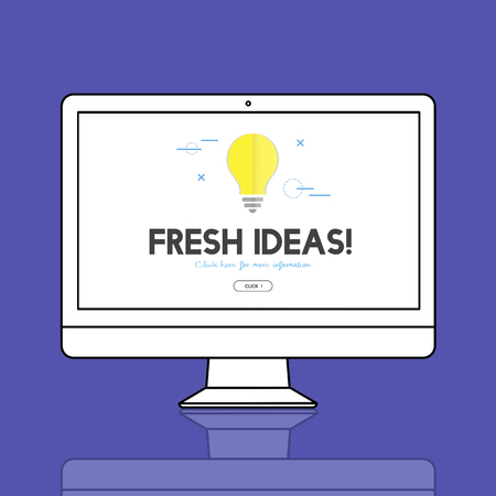 Monitor with fresh ideas concept