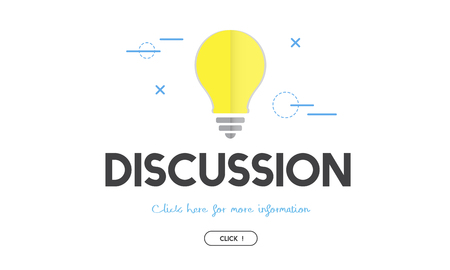 Light bulb with discussion concept Stock Photo