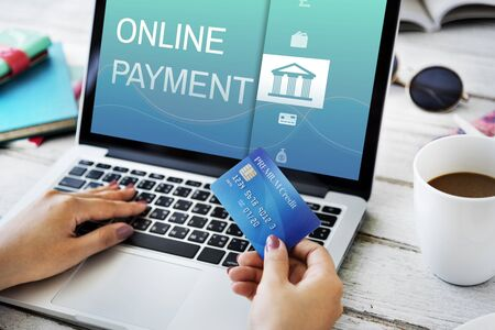 technology transaction: Online Banking Payment Finance Concept