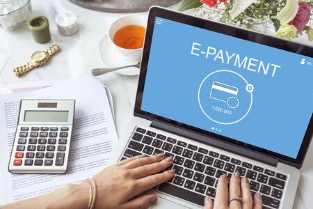 epayment: E-Payment Internet Banking Technology Concept Stock Photo