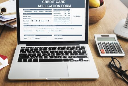 place of employment: Credit Application Form Occupation Career Work Concept