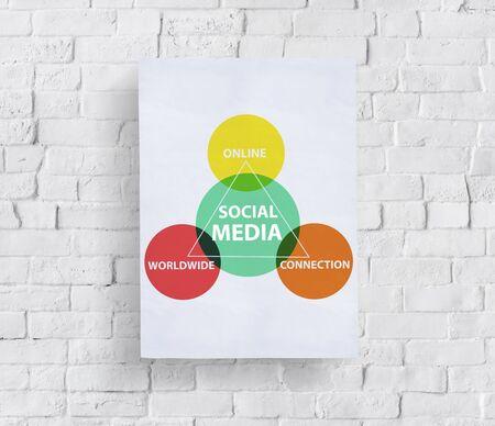 Social Media Worldwide Diagram Concept Stock Photo