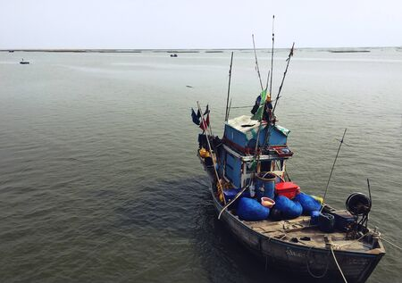 nautical   vessel: Fishery Boat Seascape Nautical Vessel Nature Concept Stock Photo