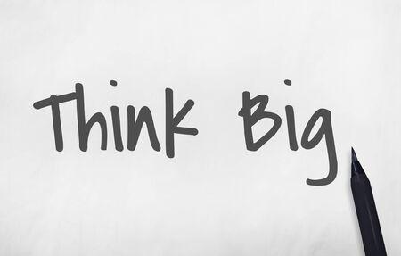 think big: Think Big Goal Target Aspirations Expectation Concept