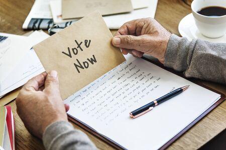 politic: Vote Now Election Choice Decision Politic Concept