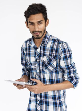 indian ethnicity: Indian Ethnicity Digital Device Technology Concept