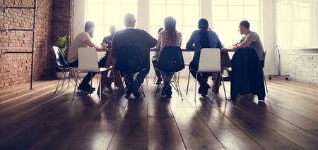 Mensen Vergadering Seminar Office Concept