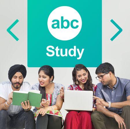 english ethnicity: Literacy ABC Icon Alphabet Concept