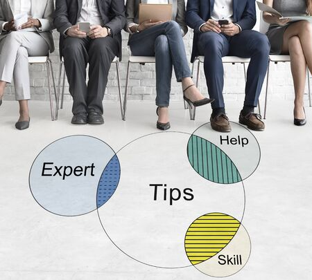 skills diversity: Consult Opinion Ask us Tips Helpful Advice Concept Stock Photo