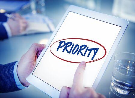 tasks: Priority Effectivity Urgency Important Tasks Rank Concept Stock Photo