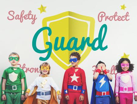 Children with superhero concept