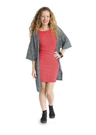 Happy fashionable woman 스톡 콘텐츠