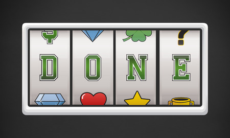 Done with slot machine concept