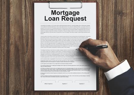 담보 대출 요청 수정 문서 개념 스톡 콘텐츠