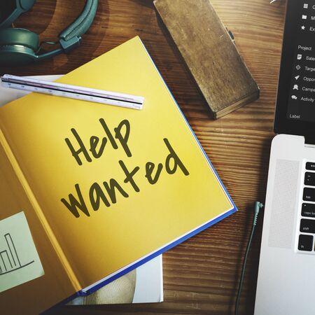 manpower: Employment Human Resources Help Wanted Manpower Recruitment Concept Stock Photo
