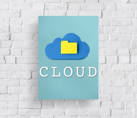 cloud networking: Cloud Networking Data Storage Online Technology Concept