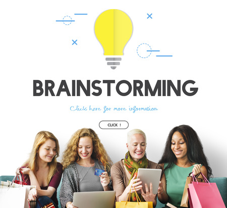 Group of people with brainstorming concept Stock Photo